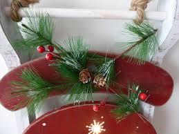60cm festive wooden christmas sledge lit with led lights xmas