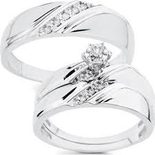 wedding band sets for and woman wedding ring sets mindyourbiz us