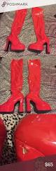 halloween thigh highs red thigh high platform heel boot halloween heel boots