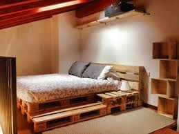 bed frame wooden pallets frame decorations
