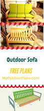 Free Woodworking Plans For Garden Furniture by Best 25 Outdoor Sofas Ideas On Pinterest Rustic Outdoor Sofas
