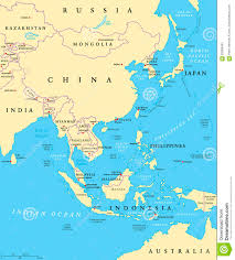 East China Sea Map by East Asia Political Map Stock Vector Image 83269451