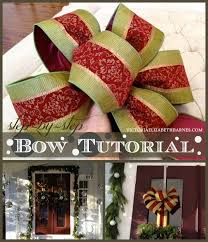 how to make a bow a step by step tutorial holiday decorating