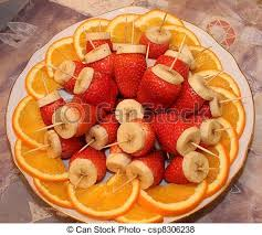 canapes fruit fruit canapes fruit canape on toothpick stock illustration