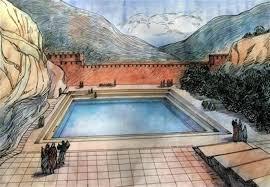 roman aqueducts pools in jerusalem israel