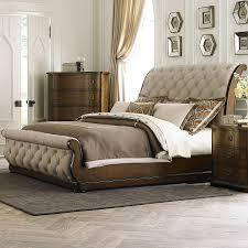 Tufted Sleigh Bed King Liberty Furniture Cotswold Transitional Upholstered King Sleigh
