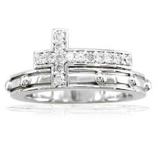 rosary ring diamond rosary ring in 18k white gold sziro jewelry