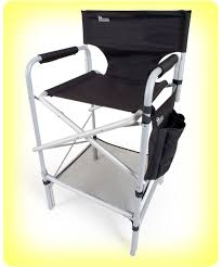 Folding Directors Chair With Side Table Earth Vip Tall Aluminum Director U0027s Chair Tall Director Chair From