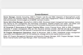Summary For Resume Career Summary For Resume Cbshow Co