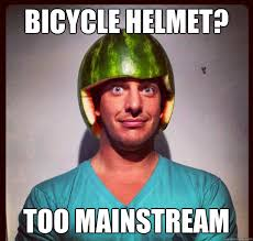 Watermelon Meme - bicycle helmet too mainstream watermelon hipster quickmeme