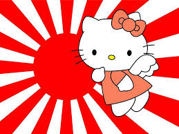 free wallpapers cartoons wallpaper kitty rising sun