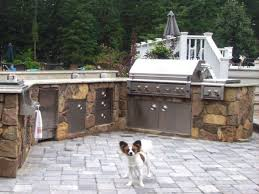 outdoor kitchen backsplash outdoor kitchens built in single bowl sink white green cushioned