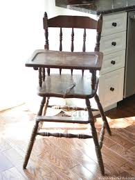 painted vintage highchair a burst of beautiful