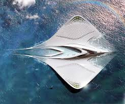 fascinating floating city shaped like a manta ray would be 100