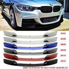 fits 12 16 f30 m performance front bumper lip chin spoiler painted