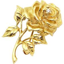 gold flowers gorgeous co 14k yellow gold cut diamond
