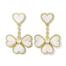 sweet earrings cleef arpels sweet alhambra effeuillage earrings on tradesy