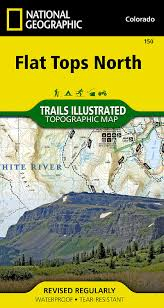 Colorado Gmu Map by Flat Tops North National Geographic Trails Illustrated Map