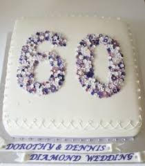 image result for diamond wedding anniversary cakes 60th