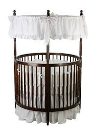 beautiful oval  round baby cribs for unique nursery decor with  from homestratospherecom
