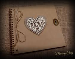 Rustic Photo Album Wedding Albums U0026 Scrapbooks Etsy