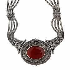 byzantine necklace images Designer savati necklace sterling silver and carnelian byzantine jpg