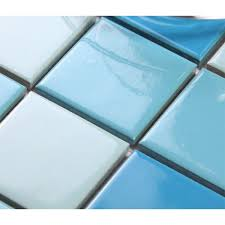 Blue Ceramic Floor Tile Porcelain Square Mosaic Tiles Wall Designs Blue Ceramic Tile