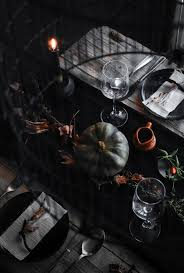 halloween tableware conjure up a dramatic halloween table setting