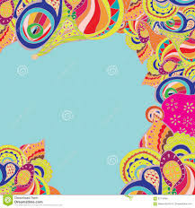 Invitation Card Maker Free Download Vector Abstract Doodle Psychedelic Border Stock Vector Image