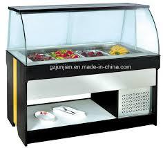 china cheering wood buffet display fridge for sale display salad