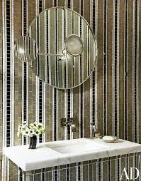 Striped Wallpaper Bathroom 58 Best Bathroom Images On Pinterest Decorating Bathrooms Deko