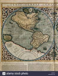 Fau Map Orbis Terrae Compendiosa Descriptio World Map 1587 Detail Of