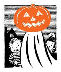 retro clip art pumpkin head ghost with kids the graphics fairy
