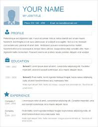 Resume Word Template Free Basic Resume Template 51 Free Sles Exles Format