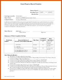 grant report template progress reports templates desktop analyst sle resume resume