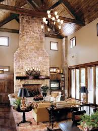 interior rustic ranch house design ideas with exposed natural