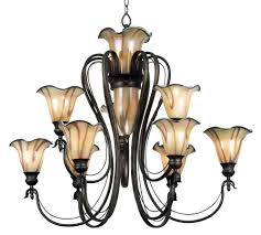 9 Bulb Chandelier Buy Inverness 9 Bulb Chandelier W Lighted Center Glass