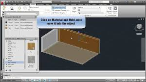 autocad tips fast inserting material to object youtube