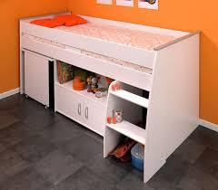 lit avec bureau coulissant lit enfant combiné blanc 90x200 avec bureau terre de nuit