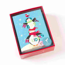 whimsy penguins boxed cards set of 20 boxed