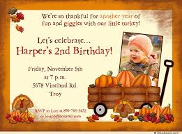 giggles birthday invitation turkeys wagon pumpkins