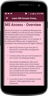 microsoft access for android learn ms access complete guide by andro tech 771 apk