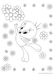 tweety color cartoon color pages printable cartoon