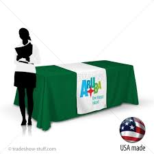 24 wide table runners 24 trade show table runner with logo tradeshow stuff