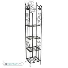 etagere ferro etagere libreria porta piante con 5 ripiani in ferro battuto