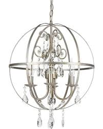 Orb Ceiling Light Sale Silver Orb Chandelier Metal Sphere In 4