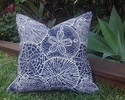 patio cushions and pillows blue and white outdoor cushions pillow covers sea shells navy