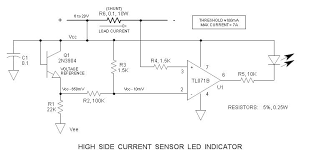 led current sensor useful circuitry schematic pinterest led