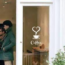 aliexpress com buy coffee shop restaurant wall decor decals home