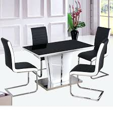 Black Gloss Dining Table And 6 Chairs Enzo Grey High Gloss Dining Table And Chairs Black High Gloss